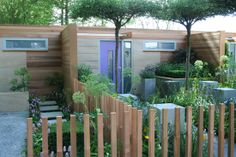 Roof trained trees in front garden // Living Streets, Chelsea Flower Show 2008