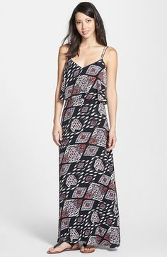 Vince Camuto 'Marrakesh Tapestry' Popover Maxi Dress available at #Nordstrom