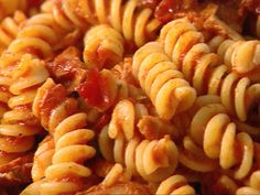 Fusilli with Tuna and Tomato Sauce. I have personally made this recipe many times and it's always delish!