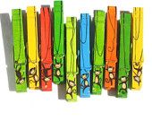10 MONKEY CLOTHESPINS hand painted magnetic