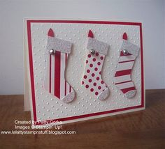 stocking punch #stampinup                                                                                                                                                     More
