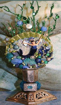 mermaid vase.