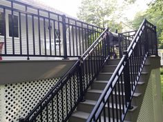 Combine our products with yours to make your space truly yours. Aluminum railing provides a beautiful contrast to vinyl decking without sacrificing any durability!
