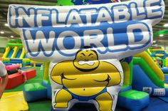 "Remember the show ""It's a Knockout""?  Inflatable World is an indoor playground where parents are encouraged to play too.  Challenges reminiscent of the 80's tv show.  At venues around Melbourne"