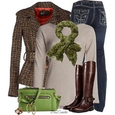 """Green Bag"" by lv2create on Polyvore"