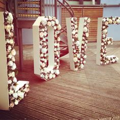 Giant floral standing letters from Lighthaus Events in Bristol