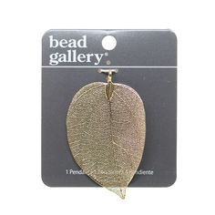 Shop for the Bead Gallery® Gold Plated Leaf Pendant at Michaels.com. Create elaborate jewelry designs or customized necklaces using this Bead Gallery® Gold-Plated Leaf Pendant.