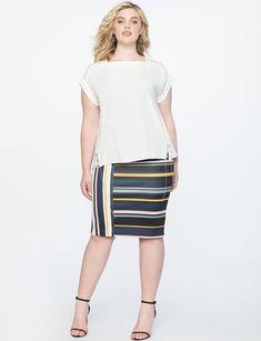 7571cf388 Neoprene Plus Size Pencil Skirt | ELOQUII Plus Size Pencil Skirt, Plus Size  Skirts,