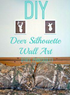 Easy DIY deer silhou