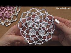 CROCHET Flower Motif Pattern Tutorial #1 - YouTube
