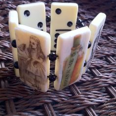 Alice in Wonderland domino bracelet