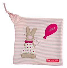 Schmusetücher - Schnuffeltuch Hase Lotte - Tante Frida - ein Designerstück von Tante-Frida-Shop bei DaWanda