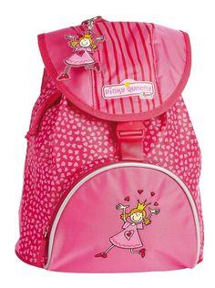 Leuke roze kinderrugzak. Elke prinses wil graag zo'n mooie rugzak. Bestel via www.sigikidshop.nl.