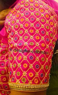 Kids Blouse Designs, Simple Blouse Designs, Blouse Designs Silk, Hand Designs, Blouse Patterns, Wedding Saree Blouse Designs, Maggam Work Designs, Work Blouse, Sleeve Designs