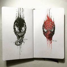 Venom vs. Spider | by Kerbyrosanes