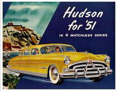 1951 Hudson Car - my uncle had one of these in black!