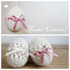 Gehäkeltes Osterei (mit Anleitung) - Crochet Easter Egg (free pattern in German)
