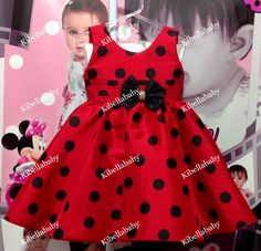 vestido joaninha, vestido infantil joaninha, vestido infantil da joaninha - KIBELLABABY