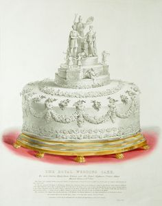Cake from wedding of Queen Victoria and Prince Albert of Saxe-Coburg and Gotha, Royal Cakes, Queen Victoria Prince Albert, Victoria And Albert, Queen Victoria Wedding, Princesa Beatrice, Elisabeth Ii, Victoria Sponge, Royal Weddings, Royal Brides