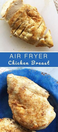 I know this seems like a pretty dumb, yet easy thing to do in air fryer. I looked up air fryer chicken breast recipes and there were a lot of recipes for breaded chicken and BBQ chicken. Air Fryer Oven Recipes, Air Frier Recipes, Air Fryer Recipes Chicken Breast, Air Fryer Recipes Gluten Free, Power Air Fryer Recipes, Recipe Chicken, Pollo Light, Air Fried Food, Air Fryer Healthy