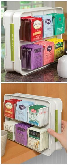 Smart tea storage.