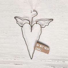 Wundervolles Ornament aus feinem Draht mit liebevoller Botschaft.