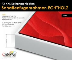 Schattenfugenrahmen - weiss - XXL Timber Mouldings, Wedges, Canvas Frame, Shadows, Wall Canvas, Tips