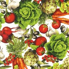 Kiss the Cook Cotton Fabric in spring developed by Mary Lake-Thompson for Robert Kaufman Fabrics Kiss the Cook Spring: Yet one more thrilling coordinate in the Kiss the Cook collection, created by Mary Lake Thompson for Robert Kaufman Fabrics. This pattern is made up of delicious looking vegetables scattered across a solid white background, creating an astonishing print for a variety of kitchen decor projects. Robert Kaufman Fabrics Kiss the Cook: Mary Lake-Thompson has made a name for…