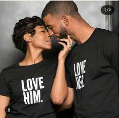 love him love her couple tees Black Love Couples, Black Love Art, Cute Couples, Happy Couples, Beautiful Love, Beautiful Couple, Engagement Couple, Engagement Photos, Wedding Engagement