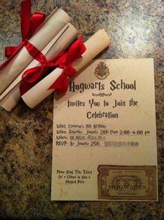 Ideia de convite pra festa temática do Harry | Festa Harry Potter | Madame Inspiração