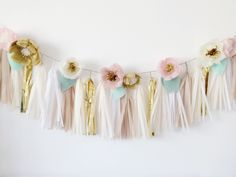 DIY: Floral Tassel Garland — meethaha                                                                                                                                                                                 More