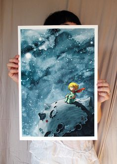 the Little Prince - Large Fine Art color archival print - watercolor painting on Etsy, $56.73 CAD