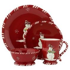 Tracy Porter Jolly Ol' Snowy 16-pc. Dinnerware Set