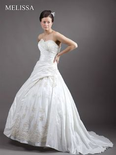 Sissi Hochzeitskleid a linie trägerlos