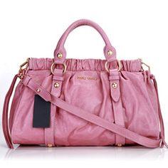 Miu Miu Navy Apricot Suede Leather Top Handle Bag