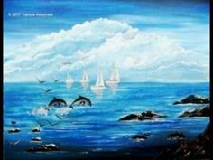 Sailboats - Acrylic Painting on Canvas – for Beginners