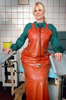 Pvc Apron, Apron Dress, Mudding Girls, Plastic Aprons, Beautiful Nurse, Latex Wear, Plastic Raincoat, Heavy Rubber, Weather Wear