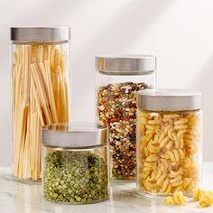 Kitchen Labels, Kitchen Canister Sets, Glass Canisters, Storage Canisters, Pantry Labels, Kitchen Pantry, Kitchen Storage, Kitchen Organization, Glass Jars