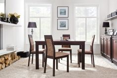 MAROCCO BRW Dining room furniture set. Classic style and high quality materials. Elements of the collection available in stained wenge / wenge oak mahogany. Polish BRW Modern Furniture Store in London, United Kingdom #furniture #polish #brw #diningroom