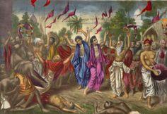 Sankirtan (congregational chanting) party of Sri Chaitanya Mahaprabhu