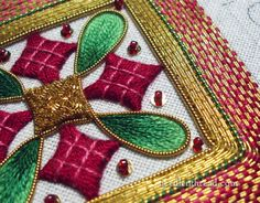 Goldwork & Silk Embroidery - Ornament. This was fun to work!