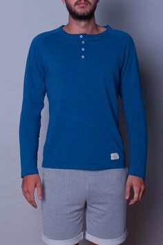 Lifetime Collective / Men's Collection / KNITS / REVOLVER LS - FRENCH BLUE