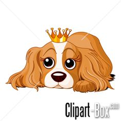 CLIPART DOG WITH CROWN