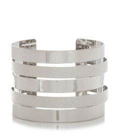 Silver sandblasted cuff #jewelry #prom