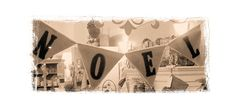 "Create a ""Noel"" bunting by stenciling letters on to individual flags cut out of canvas."