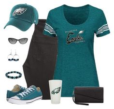 Philadelphia Eagles Game Day by carriefdix on Polyvore featuring Citizens of Humanity, Converse, SR Squared by Sondra Roberts, Juicy Couture, '47 Brand and Gameday Boots