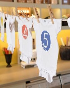 numbered onsies for each month