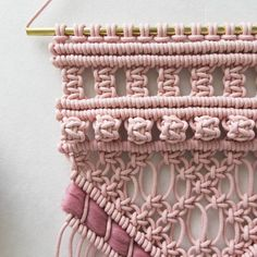 """1,145 mentions J'aime, 22 commentaires - Rianne Zuijderduin (@teddyandwool) sur Instagram: """"Close up ❤ In love with my recent blushy pink dyed rope! Have a great day! 😘😘"""""""