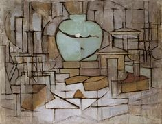 Piet Mondrian - Still Life with Ginger Jar 2, 1912 | Trivium Art History