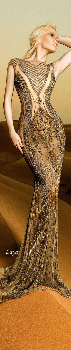 the beading of the top part of the dress DANY TABET Spring-Summer 2015 Stunning Dresses, Beautiful Gowns, Pretty Dresses, Beautiful Outfits, Gorgeous Dress, Beauty And Fashion, Look Fashion, High Fashion, Couture Fashion